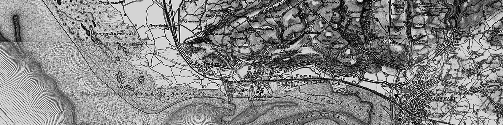 Old map of Burry Port in 1896