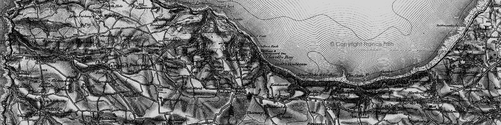 Old map of Wood Rock in 1895