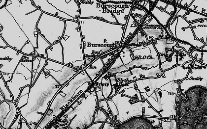 Old map of Burscough in 1896
