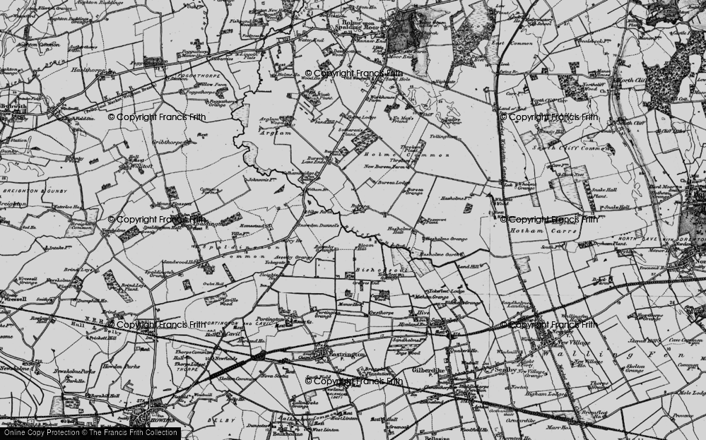 Old Map of Historic Map covering Asselby Grange in 1895