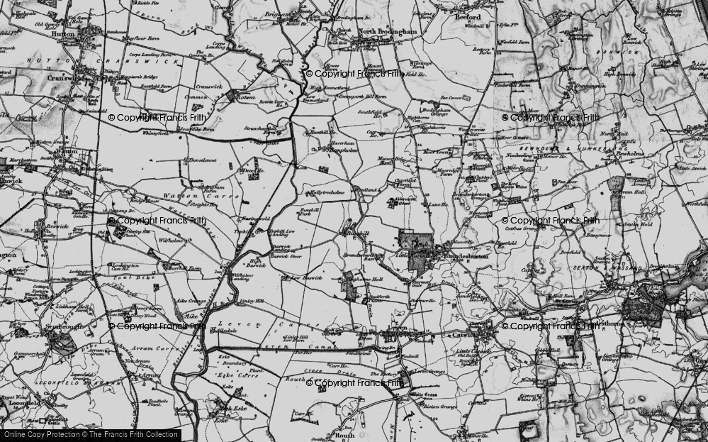 Old Map of Historic Map covering Aldermen's Gorse in 1897
