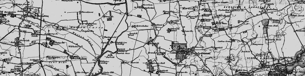 Old map of Aldermen's Gorse in 1897