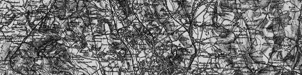 Old map of Burslem in 1897