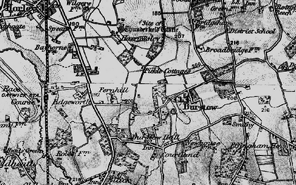 Old map of Burstow in 1895
