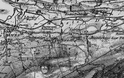 Old map of Bainbridge Ings in 1897