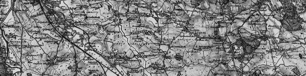 Old map of Burton in 1897