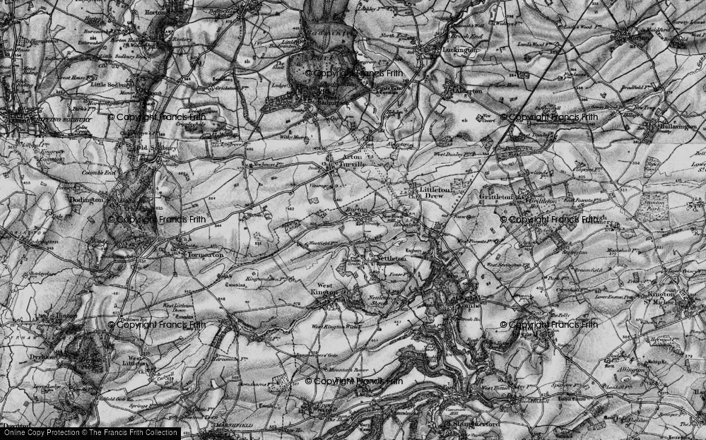 Old Map of Burton, 1898 in 1898