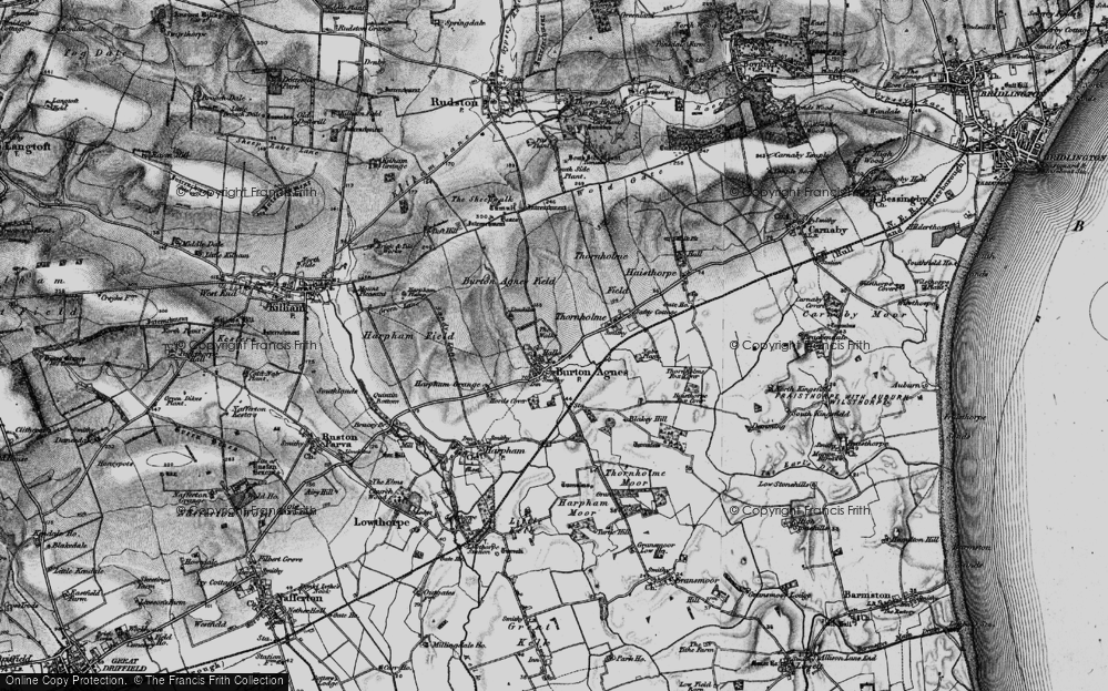Old Map of Burton Agnes, 1897 in 1897