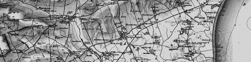 Old map of Burton Agnes in 1897