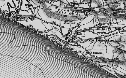Old map of Burton Bradstock in 1897