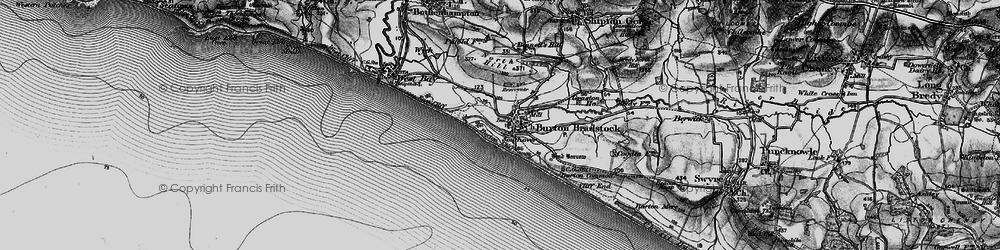 Old map of Burton Bradstock in 1897