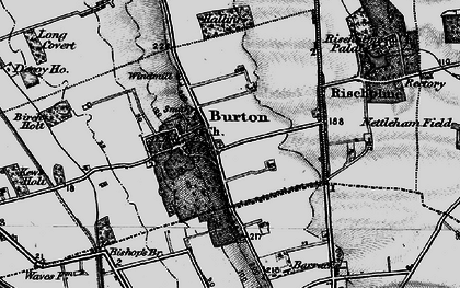 Old map of Burton-by-Lincoln in 1899
