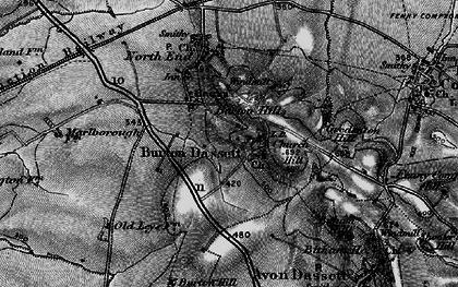Old map of Burton Dassett in 1896