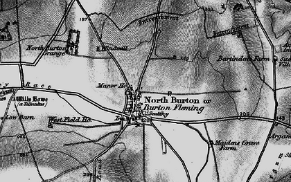 Old map of Burton Fleming in 1898
