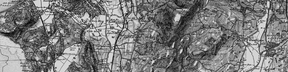 Old map of Burton-in-Kendal in 1898