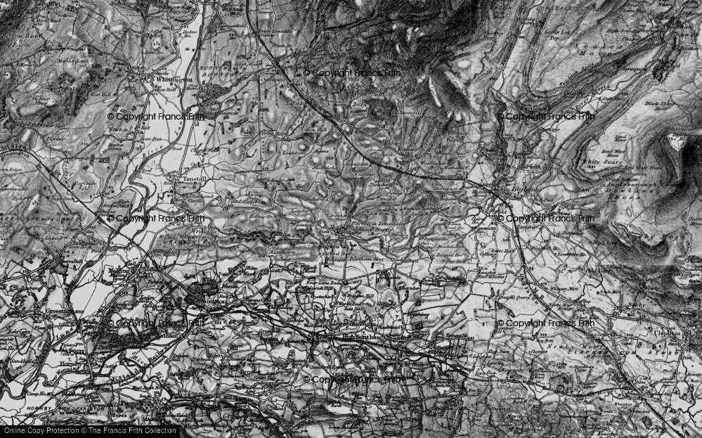Old Map of Burton in Lonsdale, 1898 in 1898