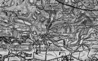 Old map of Burton in Lonsdale in 1898