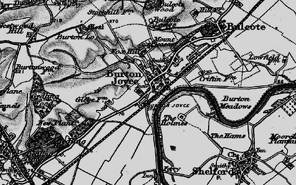 Old map of Burton Joyce in 1899