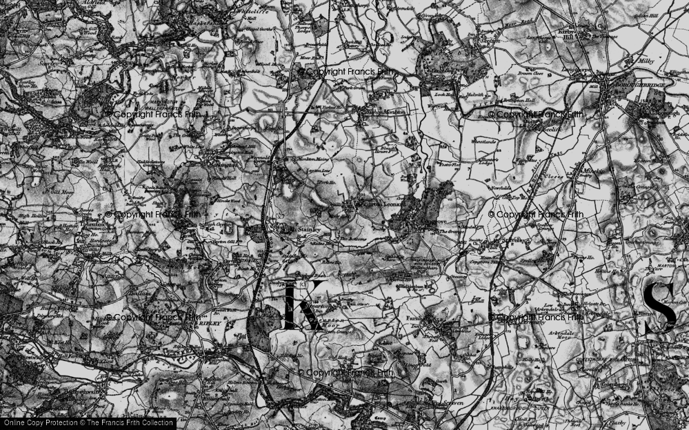 Old Map of Historic Map covering Leyton Lees in 1898