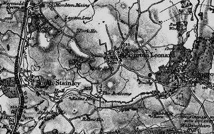 Old map of Burton Leonard in 1898