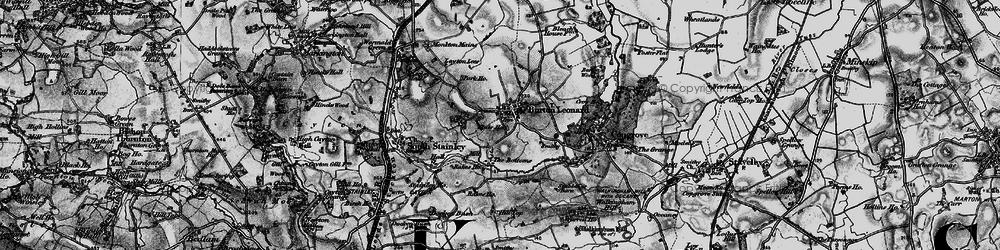 Old map of Burton Leonard in 1898