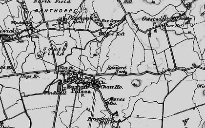 Old map of Willow Toft Fox Covert in 1895