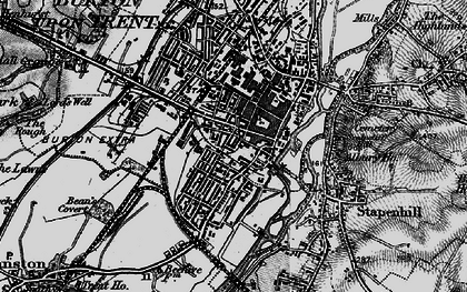 Old map of Burton upon Trent in 1898