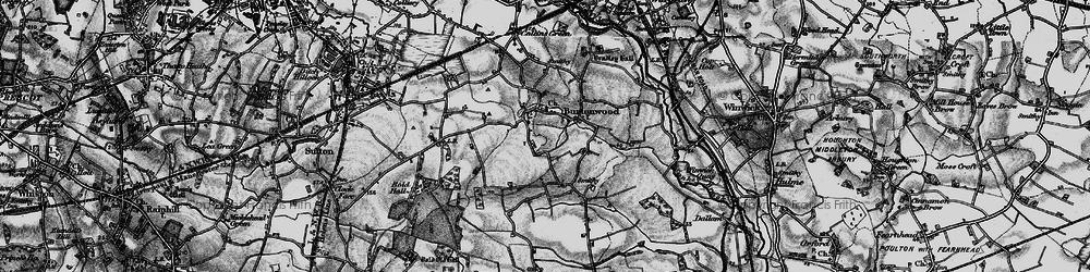 Old map of Burtonwood in 1896