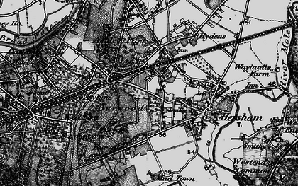 Old map of Burwood Park in 1896
