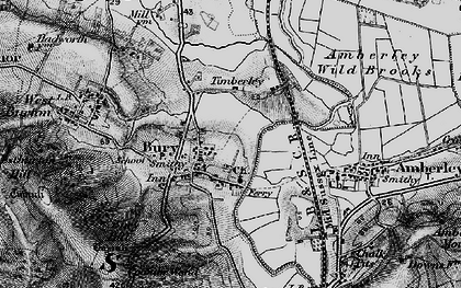 Old map of Bury in 1895