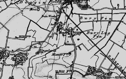 Old map of Bury in 1898