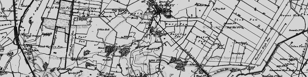 Old map of Wistow Fen in 1898