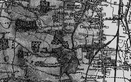 Old map of Bury Green in 1896