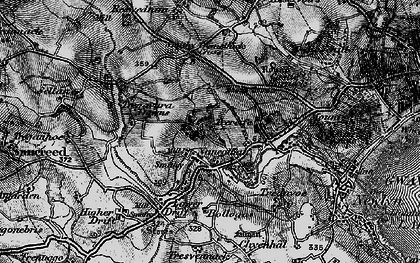 Old map of Buryas Br in 1895