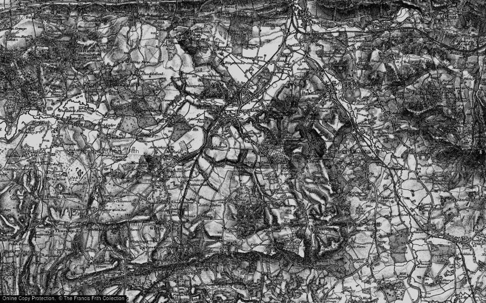 Old Map of Busbridge, 1896 in 1896