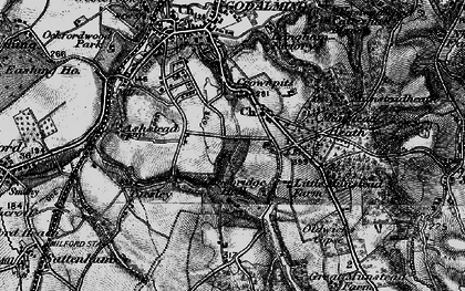 Old map of Busbridge in 1896