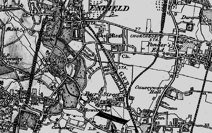 Old map of Bush Hill Park in 1896