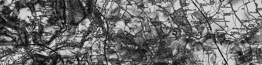 Old map of Bushey in 1896