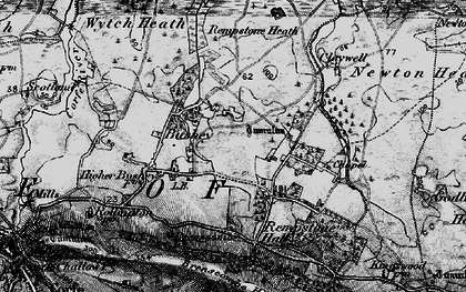 Old map of Wytch Heath in 1897