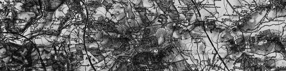 Old map of Bushey Heath in 1896