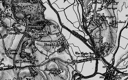 Old map of Bushley in 1898