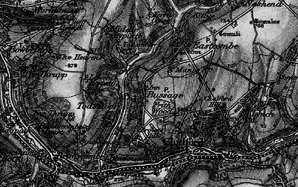 Old map of Bussage in 1897