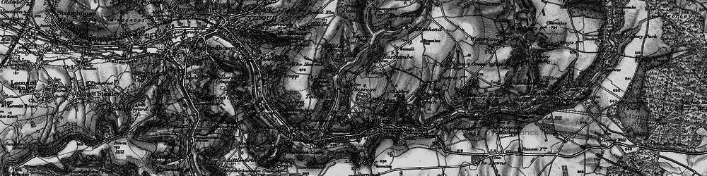 Old map of Toadsmoor Valley in 1897