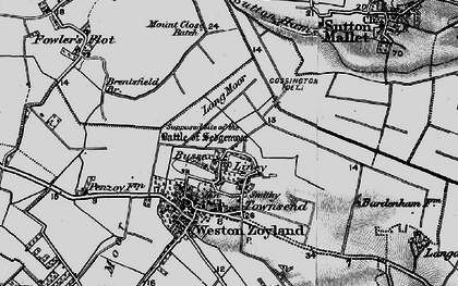 Old map of Lang Moor in 1898