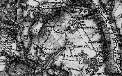 Old map of Butlers Cross in 1896