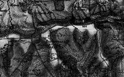 Old map of Ballyack Ho in 1895