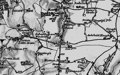 Old map of White Gates in 1898