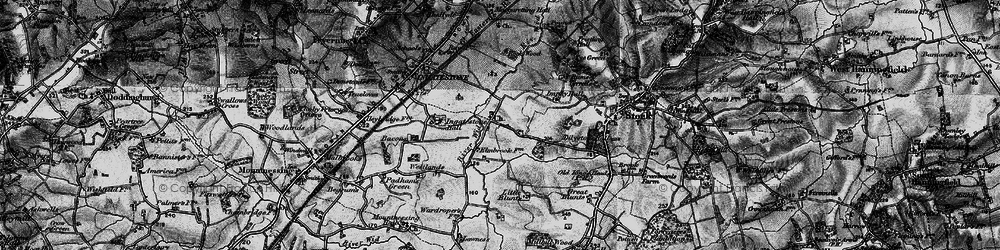 Old map of Tilehurst in 1896