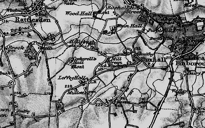 Old map of Wood Hall in 1898