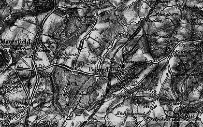 Old map of Buxted in 1895